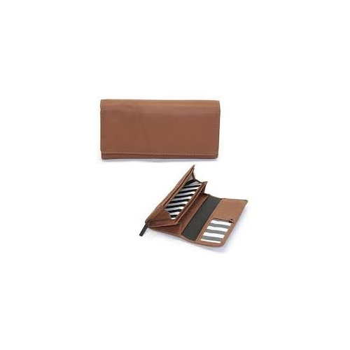 Marimekko Helina 4 Leather Wallet Brown