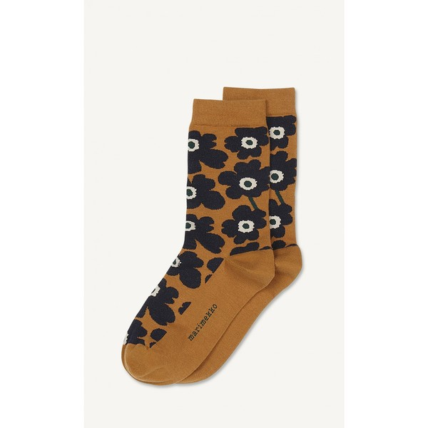 Marimekko Hieta Socks Gold/Blue/Dark Green