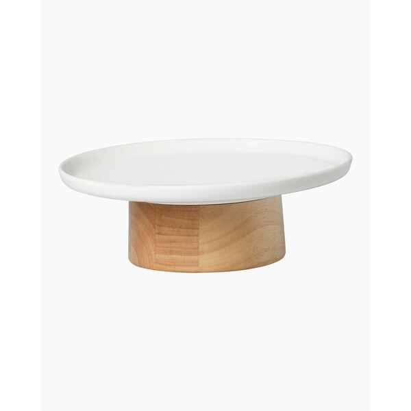 Marimekko Oiva Kanta Serving Dish - White/Wood