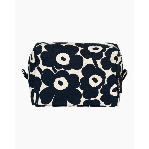 Marimekko Vilja Mini Unikko Cosmetic Bag Cotton/Dark Blue