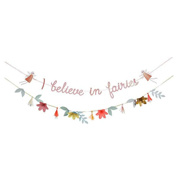 Meri Meri Party Garland 'I Believe In Fairies'