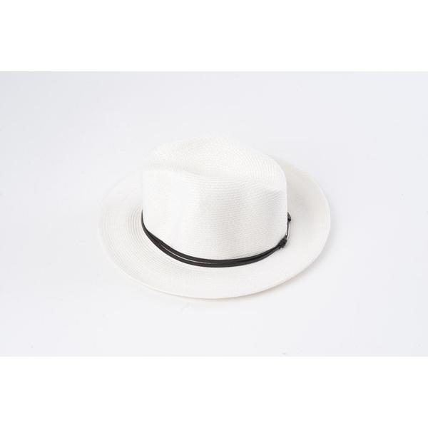 Borsalino Hat with Leather Strap Blanc Size 58