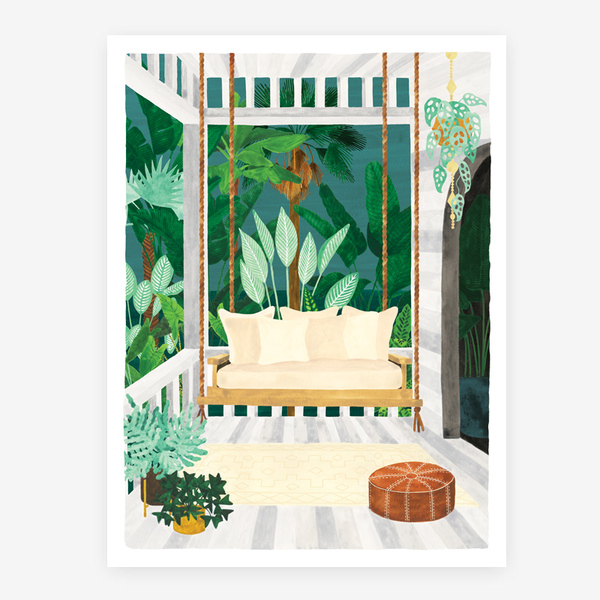 All The Ways To Say Botanical Kingdom Porch Print