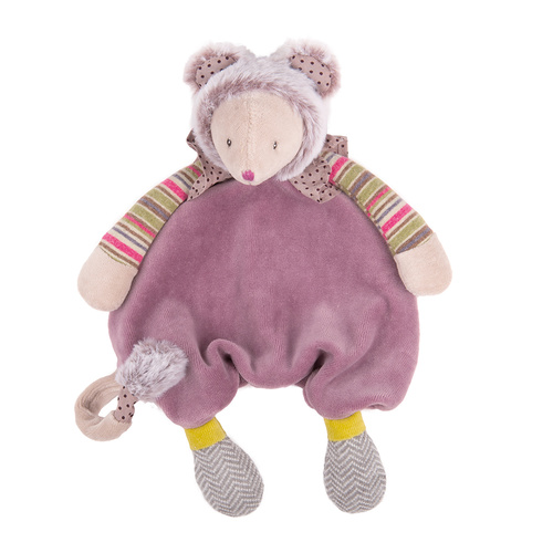Moulin Roty Les Pachats Purple Mouse Comforter