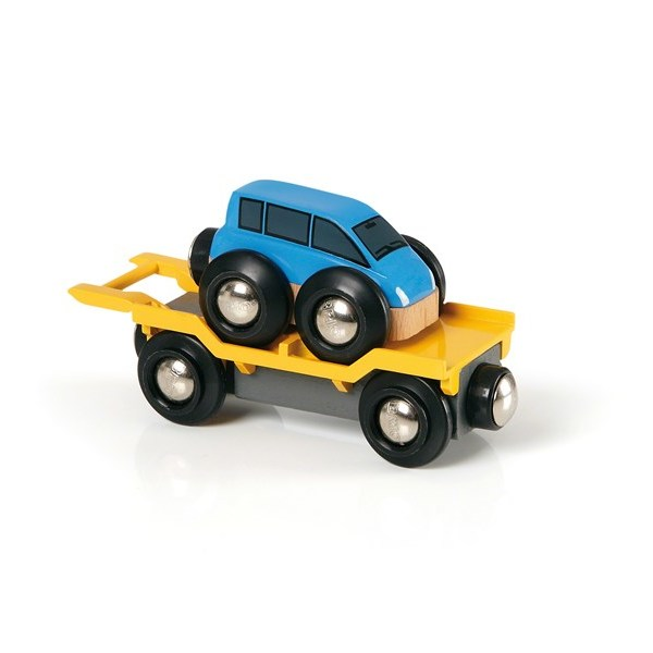 BRIO Car Transporter Blue