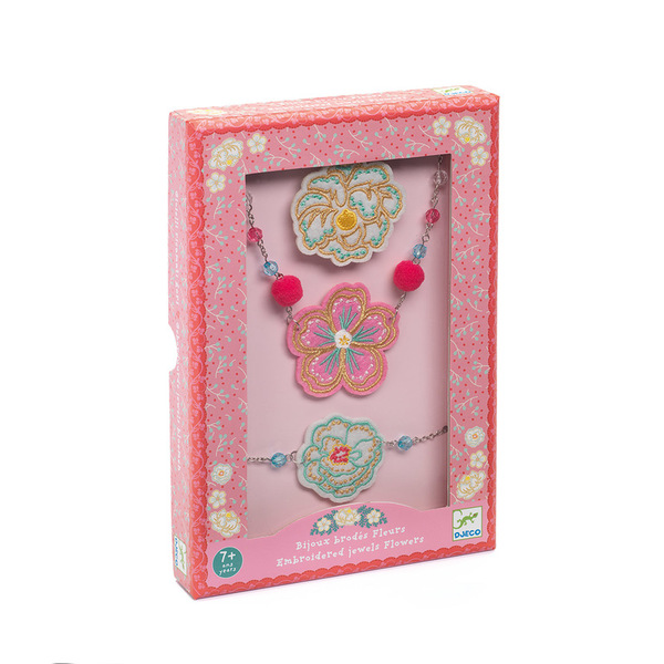 Djeco Embroidered Jewels Flowers Set