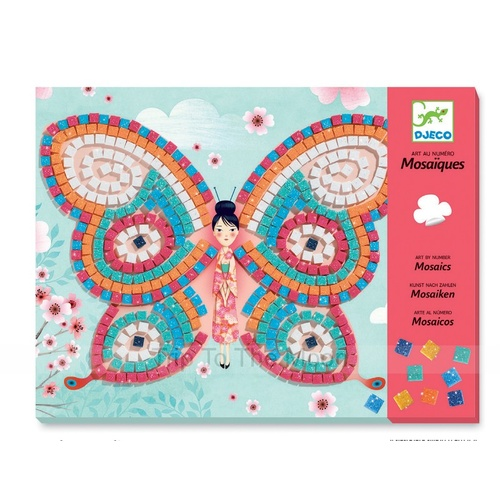 Djeco Mosaics Art By Numbers Butterflies
