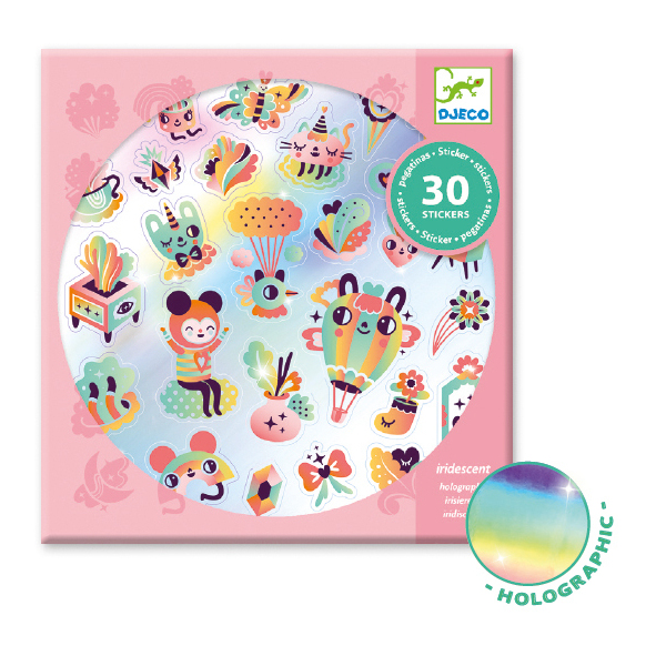 Djeco Lovely Rainbow Holographic Stickers 30pc