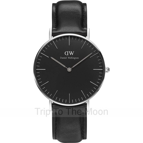 Daniel Wellington Classic Sheffield Black 40mm Sliver