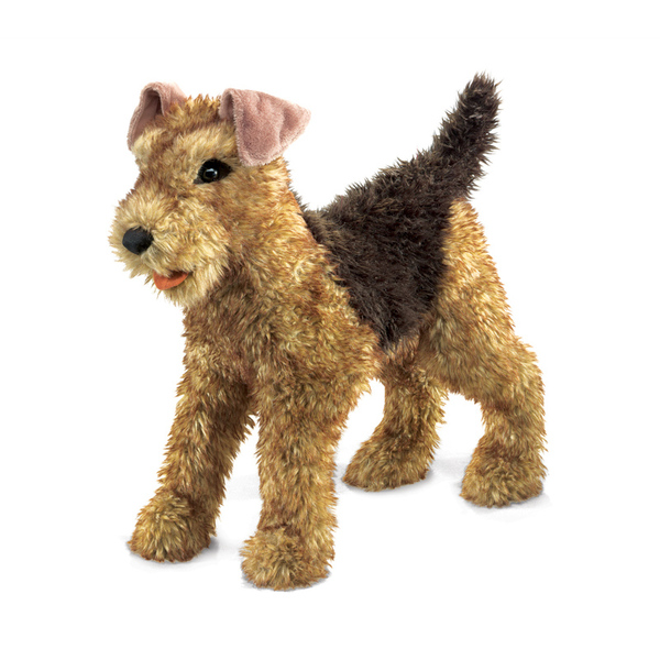 Folkmanis Airedale Terrier Dog Puppet