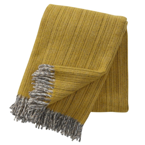 Klippan Bjork Eco Wool Throw Yellow