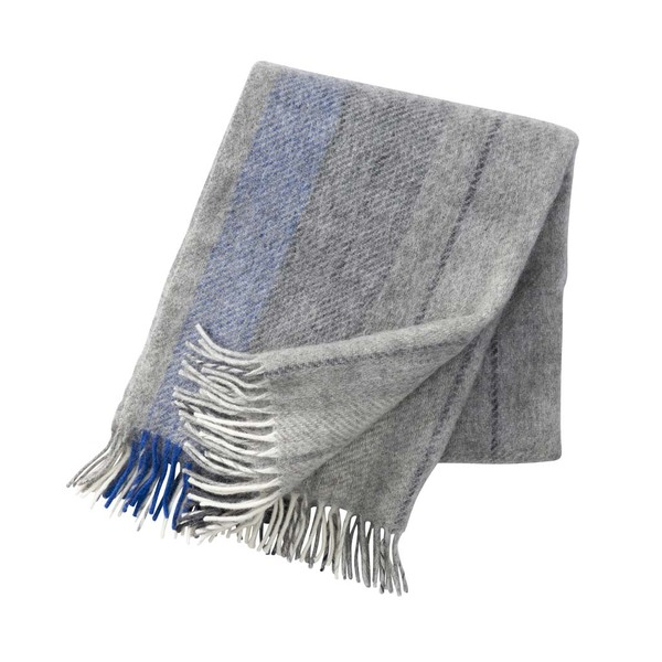 Klippan Gute Eco Wool Throw Grey/Blue