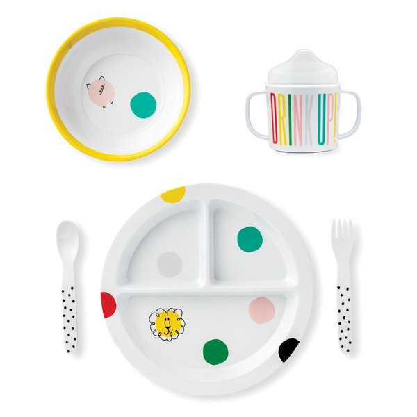 Kate Spade NEW YORK Baby Melamine Dinner Set Hey Baby