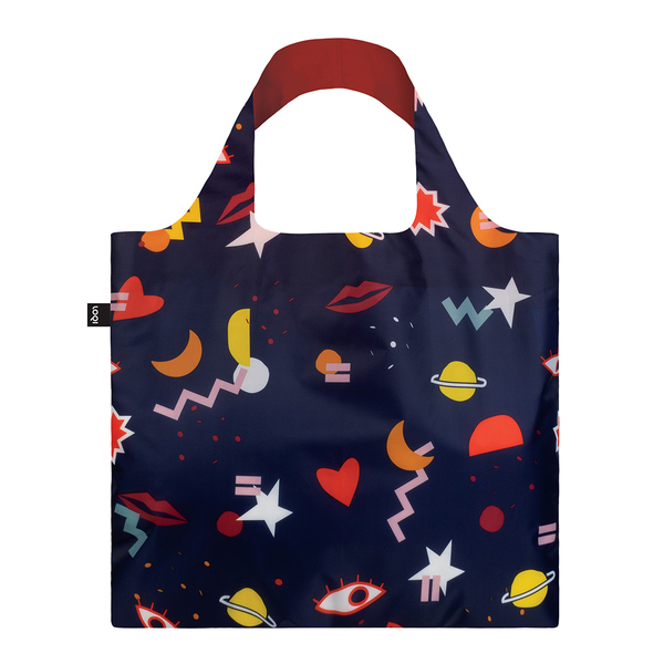 LOQI Reusable Shopping Bag Celeste Wallaert Collection - Night Night