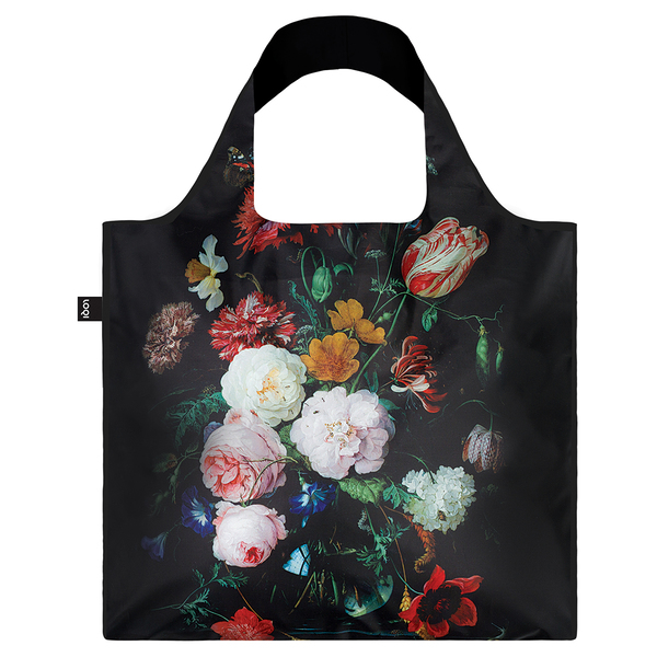 LOQI Reusable Shopping Bag Museum Collection Jan Davidsz De Heem - Still Life with Flowers