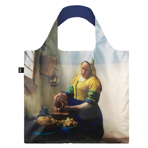 LOQI Reusable Shopping Bag Museum Collection Johannes Vermeer - The Milkmaid