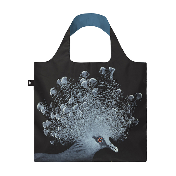 LOQI Reusable Shopping Bag National Geographic Collection Crowned Pigeon