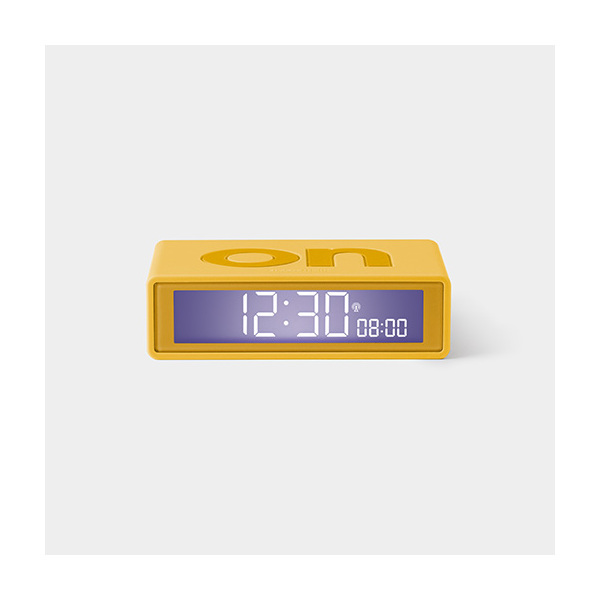 Lexon Flip Clock Reversible Alarm Clock - Warm Yellow with RCC