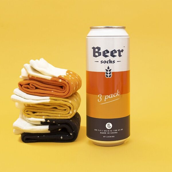 Beer Socks Mixed Pack (Ale, Lager, Stout)