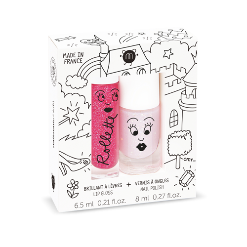 Nailmatic Kids Nail Polish and Lip Gloss Duo Fairytales
