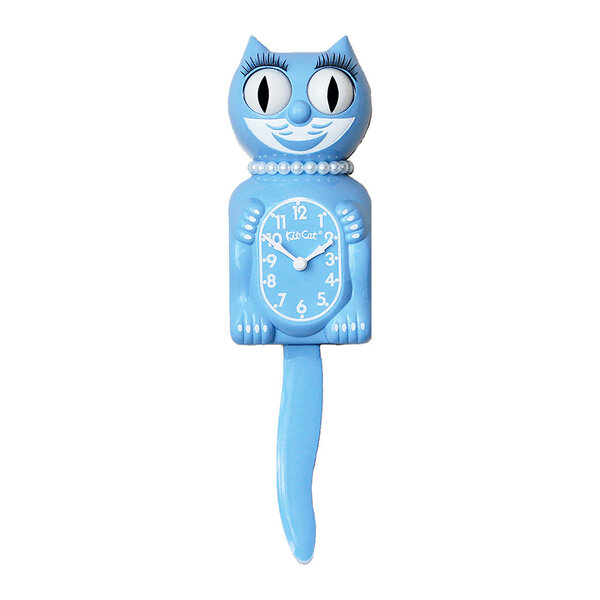 Kit-Cat Clock Serenity Blue Lady