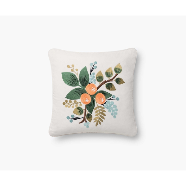 Rifle Paper Co. Botanical Orange Cushion Cover 46cm x 46cm