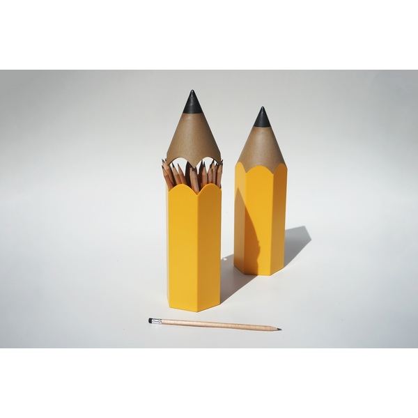 Qualy Dinsor Stationary Holder Yellow