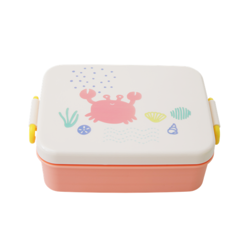 RICE Large Lunchbox with Divider and Ocean Life Coral