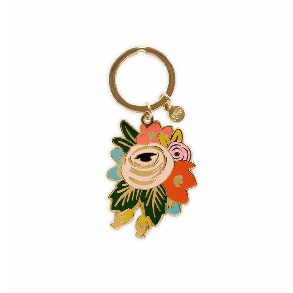 Rifle Paper Co. Rosa Enamel Keychain