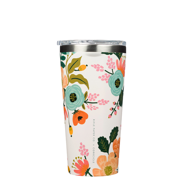 Corkcicle Rifle Paper Co. Lively Florals Cream Tumbler 475ml/16oz