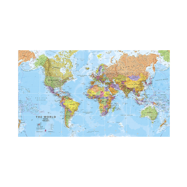 IXXI World Map Wall Art 140cm x 80cm
