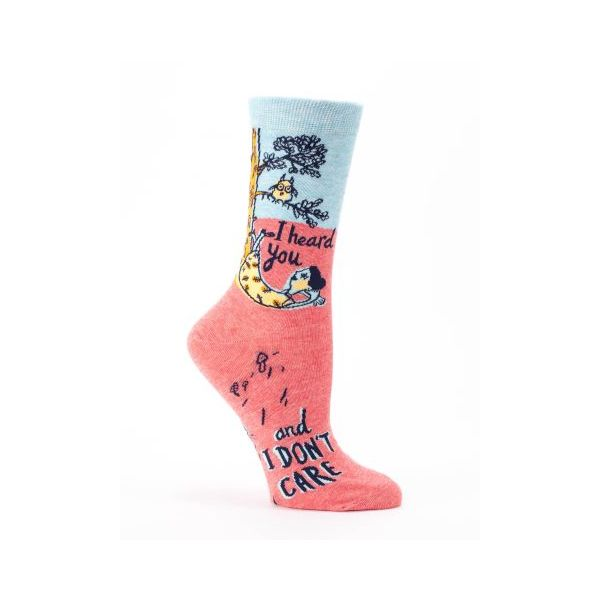 Blue Q I Heard You and I Don't Care Women's Crew Socks
