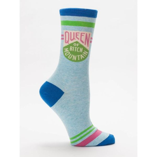 Blue Q Queen Of Bitch Mountain Women's Crew Socks