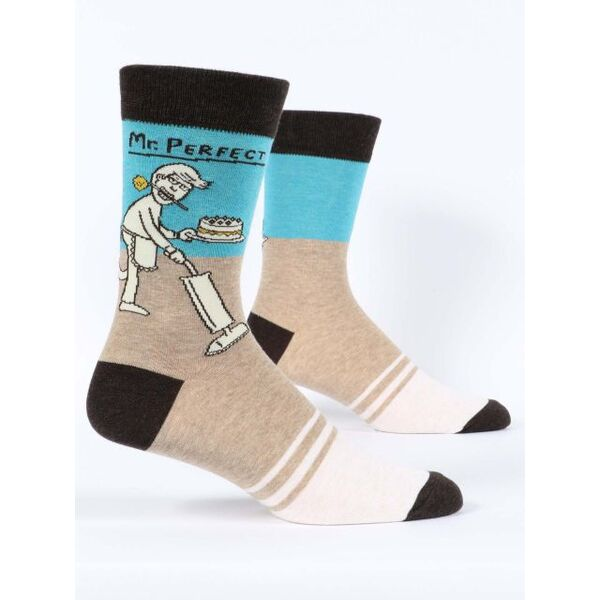 Blue Q Mr Perfect Men's Crew Socks