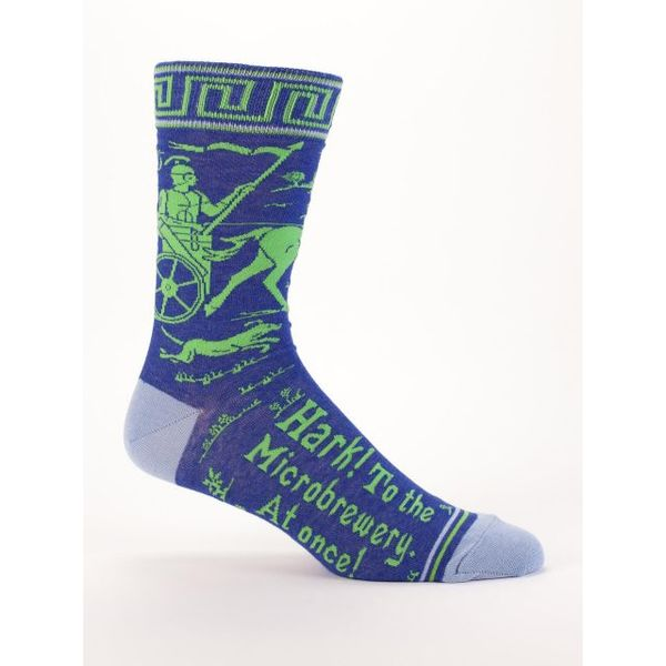Blue Q Hark! To The Microbrewery Men's Crew Socks
