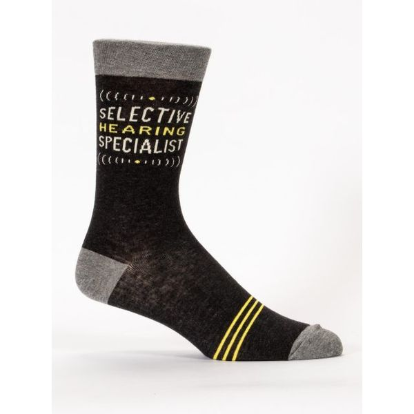 Blue Q Selective Hearing Men's Crew Socks