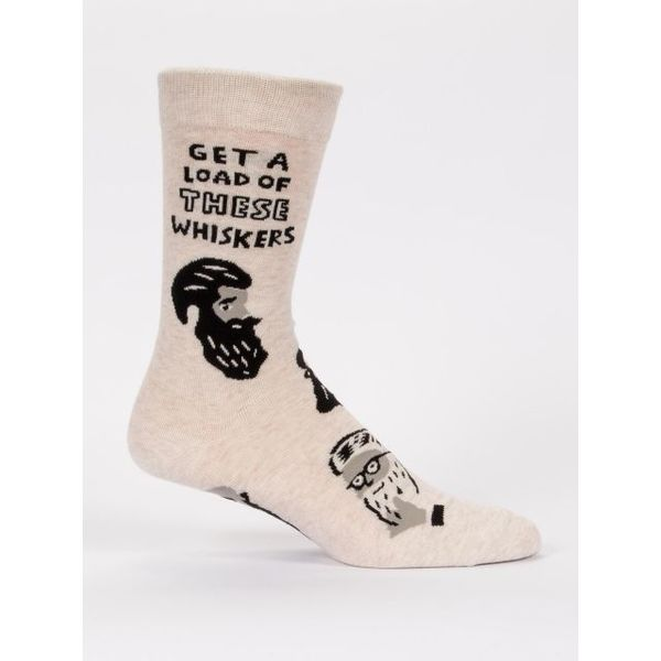 Blue Q Get A Load Of These Whiskers Men's Crew Socks