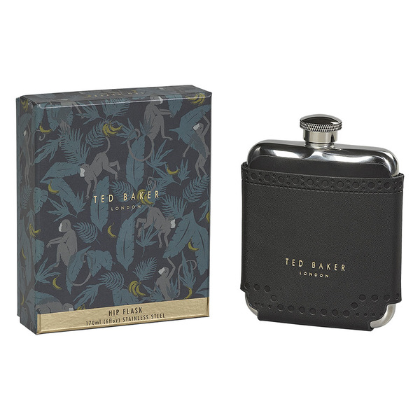 Ted Baker Hip Flask Black