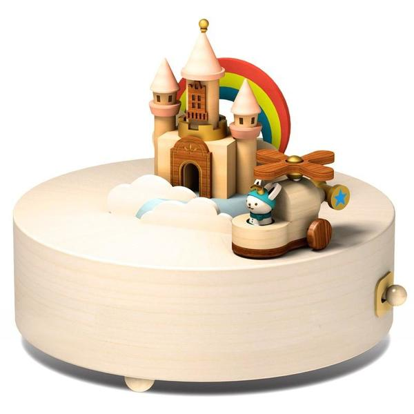 Wooderful Life Happy Clouds Castle Music Box